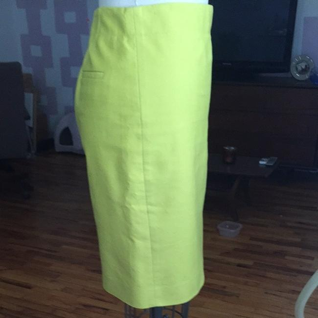 J.Crew No. 2 Pencil In Cotton Twill Size 4 Skirt Neon Green