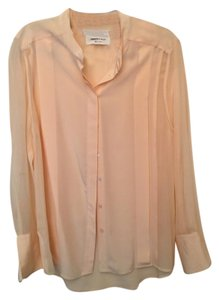 4c94c95d44 Paper Denim   Cloth Silk Shirt Button Down Top Peach