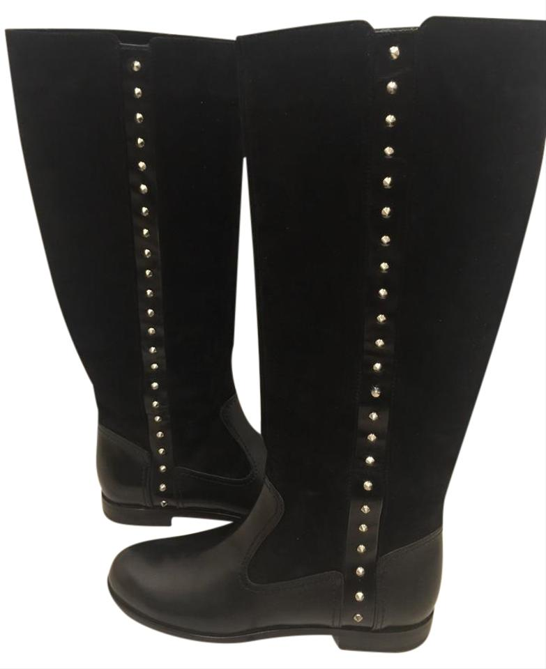 alexander mcqueen new studded leather suede knee high black boots on tradesy. Black Bedroom Furniture Sets. Home Design Ideas