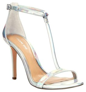 Gianni Bini Metallic Bridesmaid Lizard-patterned Formal Silver Sandals