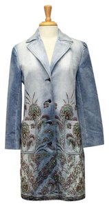 Express Rhinestone Trench Embroidered Vintage Coat