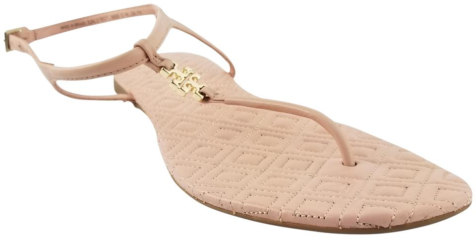 Tory Burch Leather Light Pink Marion Quilted Leather Burch Sandals d22d6f