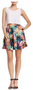 Romeo & Juliet Couture Nwot New Flare Mini Skirt Multi-color Floral
