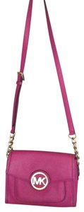 Michael Kors Mk Gold Hardware Cross Body Bag