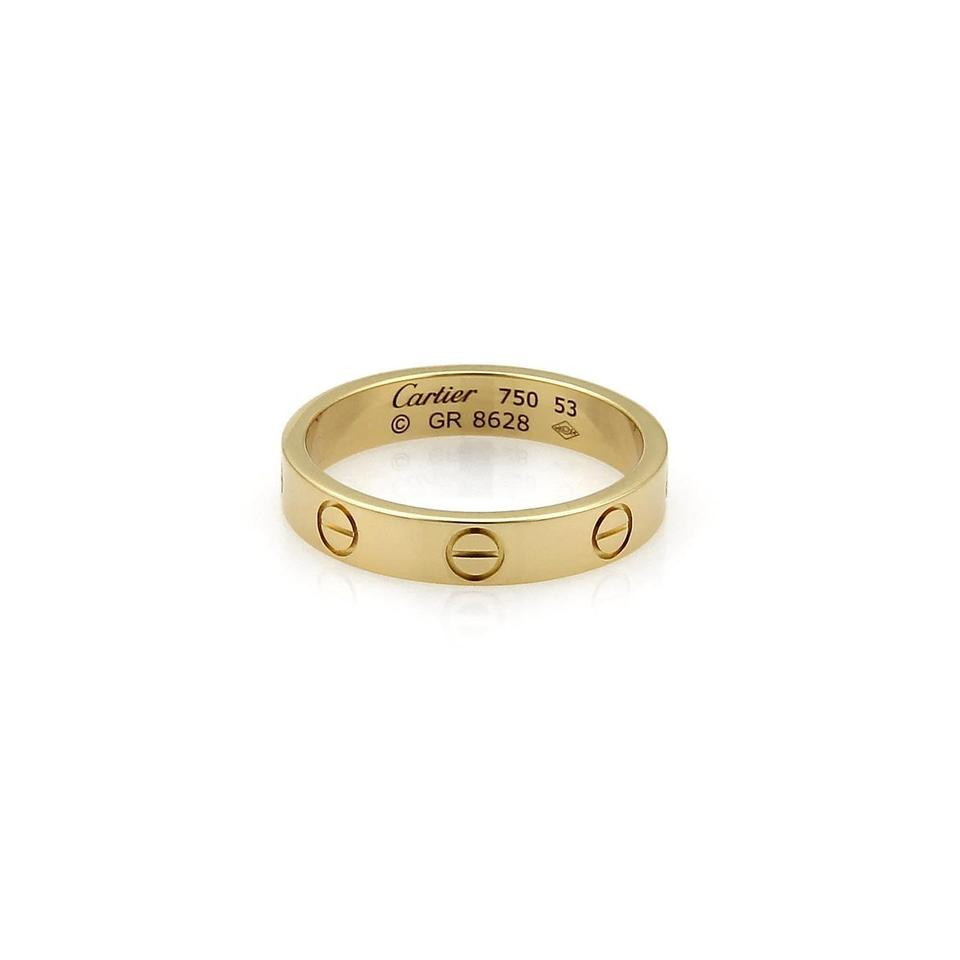 Cartier gold love rings up to 70 off at tradesy cartier cartier mini love wedding band junglespirit Choice Image