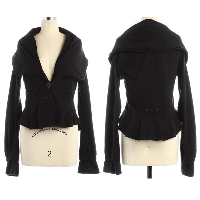 Mike & Chris Peplum Ruffle Black Jacket