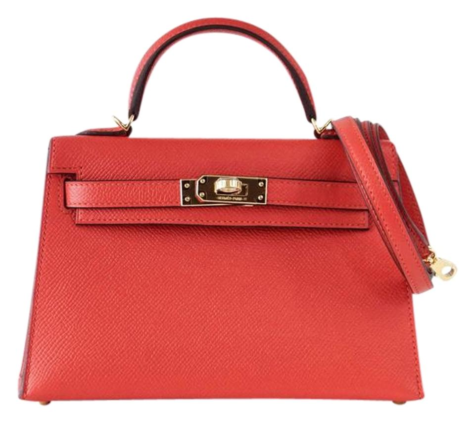 69f4dab9ab Hermès Kelly 20 Mini Rouge Tomate Kelly Epsom Tote in Red Image 0 ...