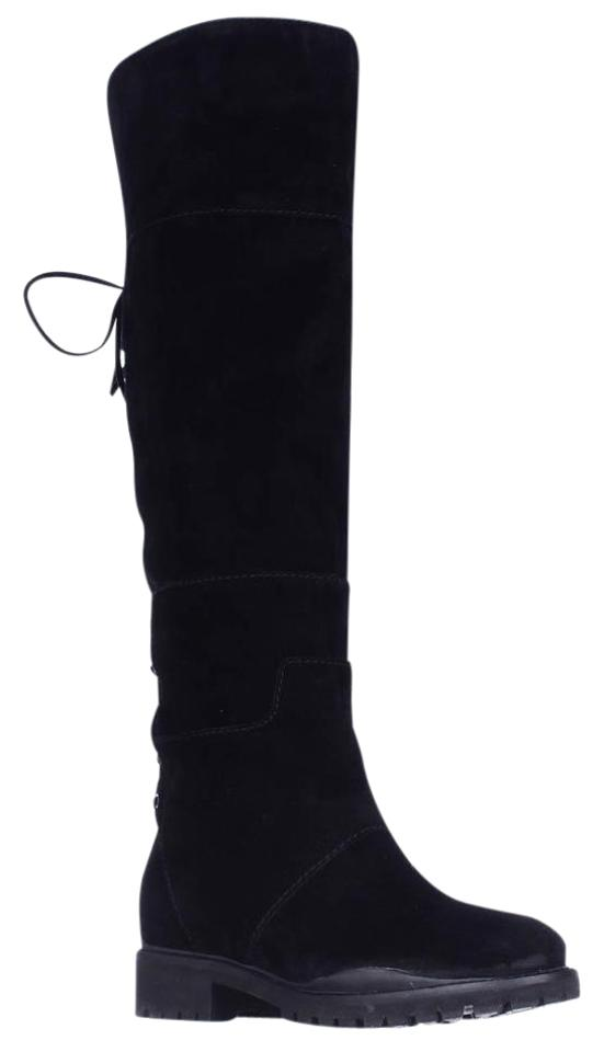 69502c6a3b1 Nine West Black Mavira Lace Up Over-the-knee Boots Booties. Size  US 7  Regular (M ...