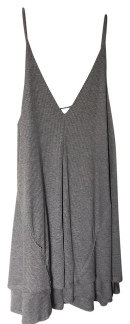 Item - Gray And Comfy Short Casual Dress Size 12 (L)