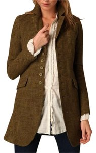 Free People Olive brown w Camel Brown Checked pattern Blazer