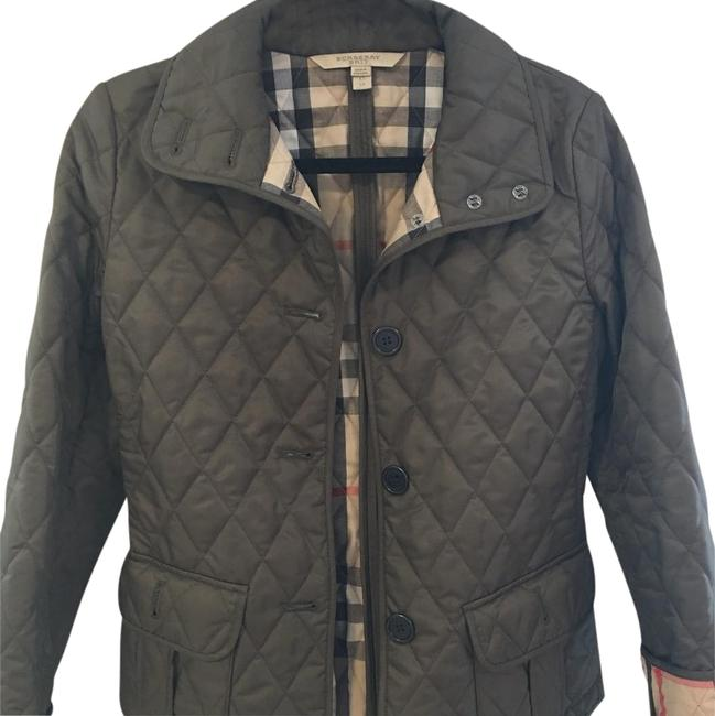 Item - Military Khaki Diamond Quilted Coat Size 2 (XS)