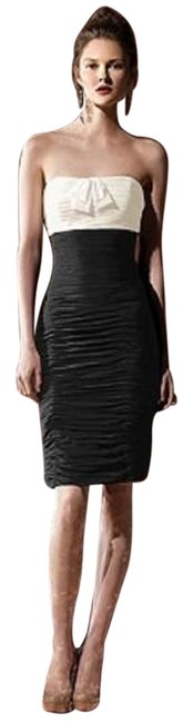Item - Ivory/Black 8107 Short Night Out Dress Size 6 (S)