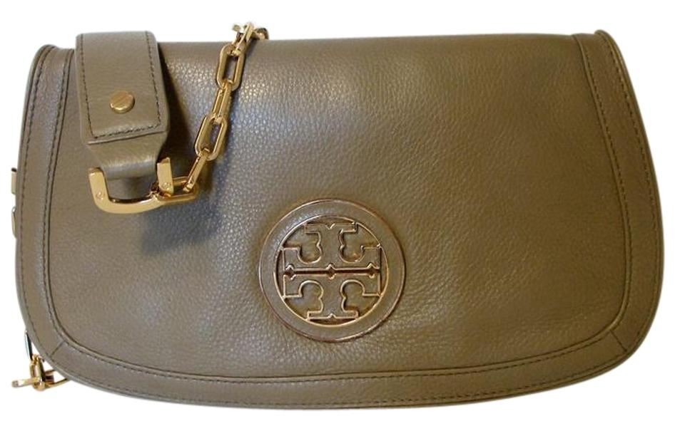 af8354fbb756 Tory Burch Amanda Crossbody Green Pebbled Leather Clutch - Tradesy