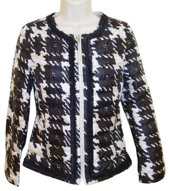 Item - Black/Ivory Light Weight Quilted Jacket Size 2 (XS)