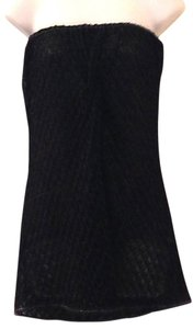 Missoni Strapless Black Micro-mini Swim Dress