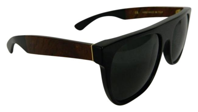 Item - Black and Brown Marbled Flat Top Two-tone Sunglasses
