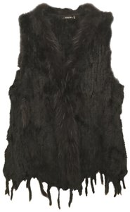 Dolce Cabo Real Fur Rabbit Raccoon Designer Fur Vest