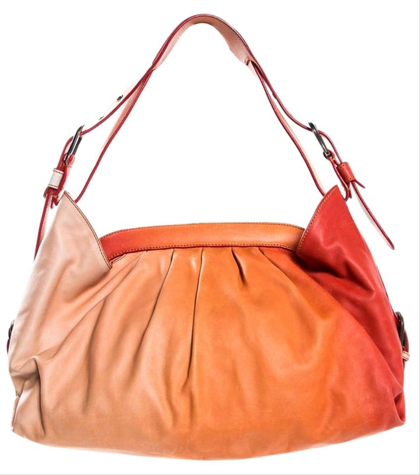 e480f3fb29 Fendi Ombre Doctor Orange Leather Shoulder Bag - Tradesy