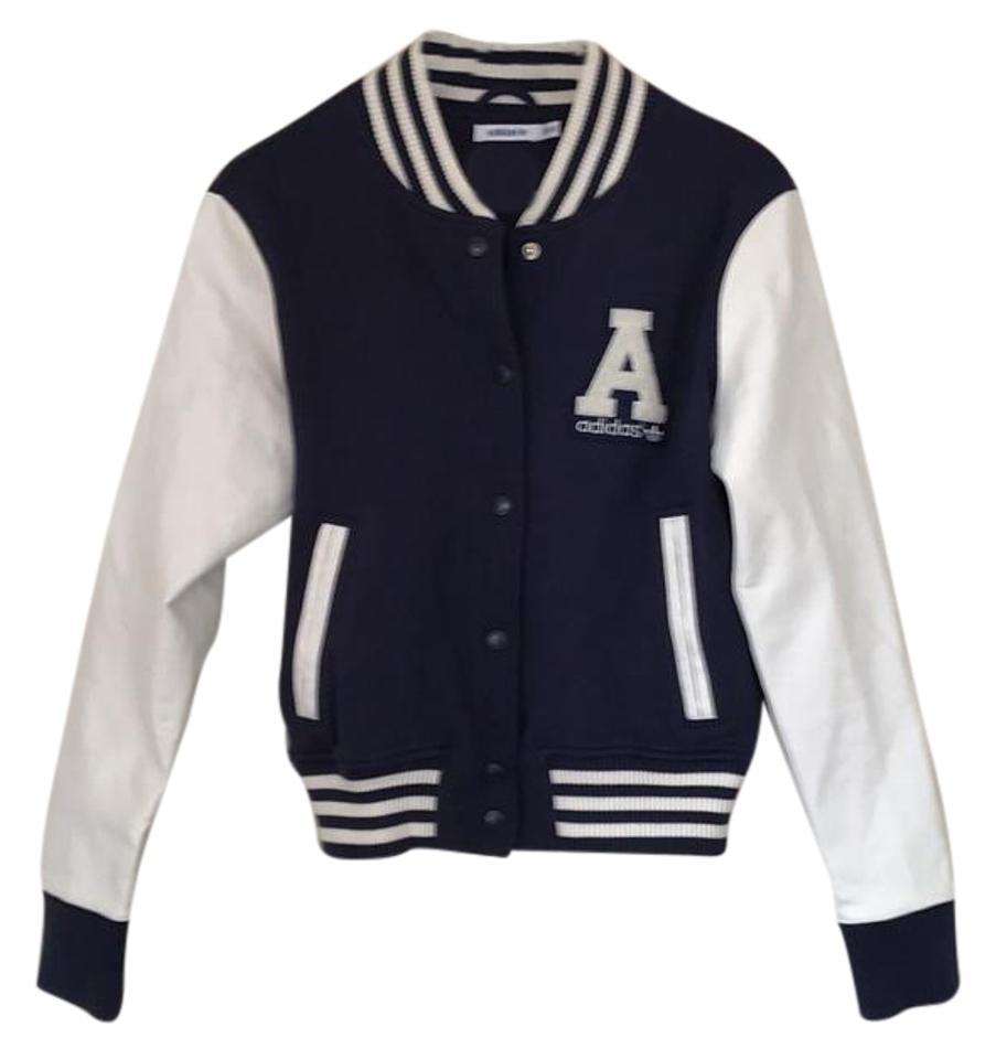 Brand-new adidas Blue/ White Varsity Letterman 40 Year Celebration Limited  DS96