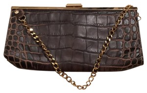 Dooney & Bourke brown w/ gold hardware Clutch