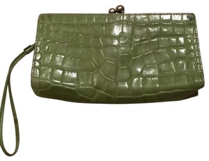 Burberry London lime Green Clutch