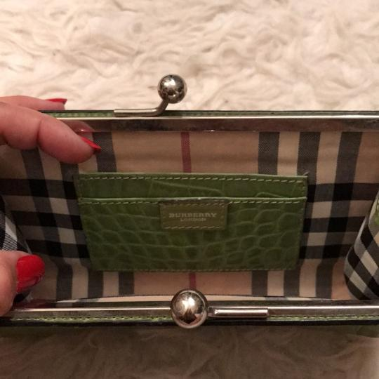 Burberry London lime Green Clutch Image 2