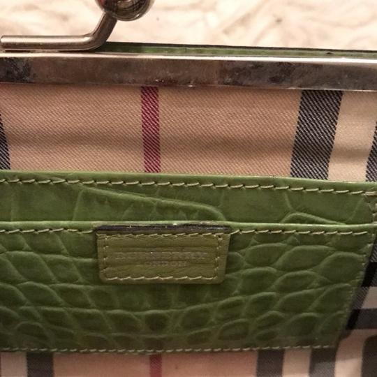 Burberry London lime Green Clutch Image 4
