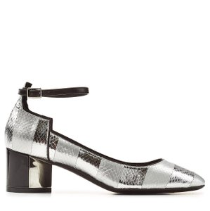 Pierre Hardy Mary Jane Metallic Leather Silver Formal