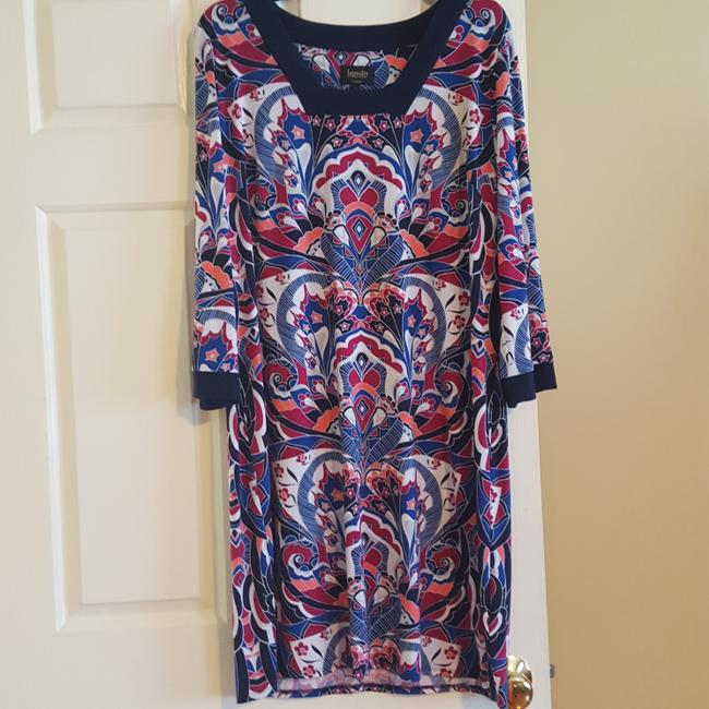 Laundry by Shelli Segal Coctail Long Sleeve Dress Image 1