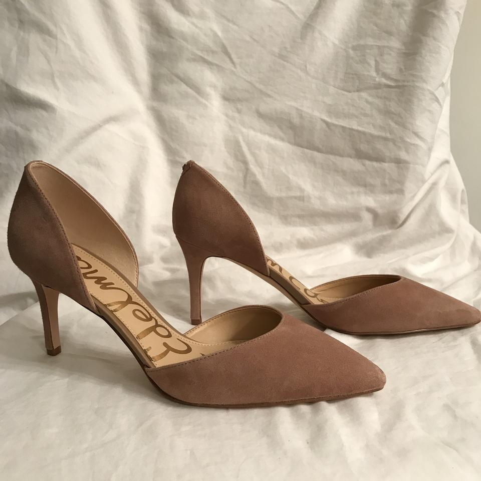 212fcfd5db Sam Edelman Suede Leather Pointed Toe New Formal Beige Pumps Image 10.  1234567891011