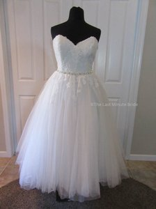 Stella York Ivory Lace & Tulle 6177 Retro Wedding Dress Size 20 (Plus 1x)
