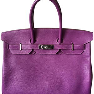Herms Rare Birkin Palladium Hardware Tote in Violet