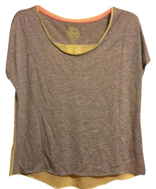 Preload https://item5.tradesy.com/images/so-gray-and-yellow-sheer-back-t-shirt-blouse-size-12-l-22131634-0-1.jpg?width=400&height=650