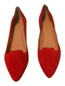 Sigerson Morrison Chic Design Sculpted Collar Red Flats