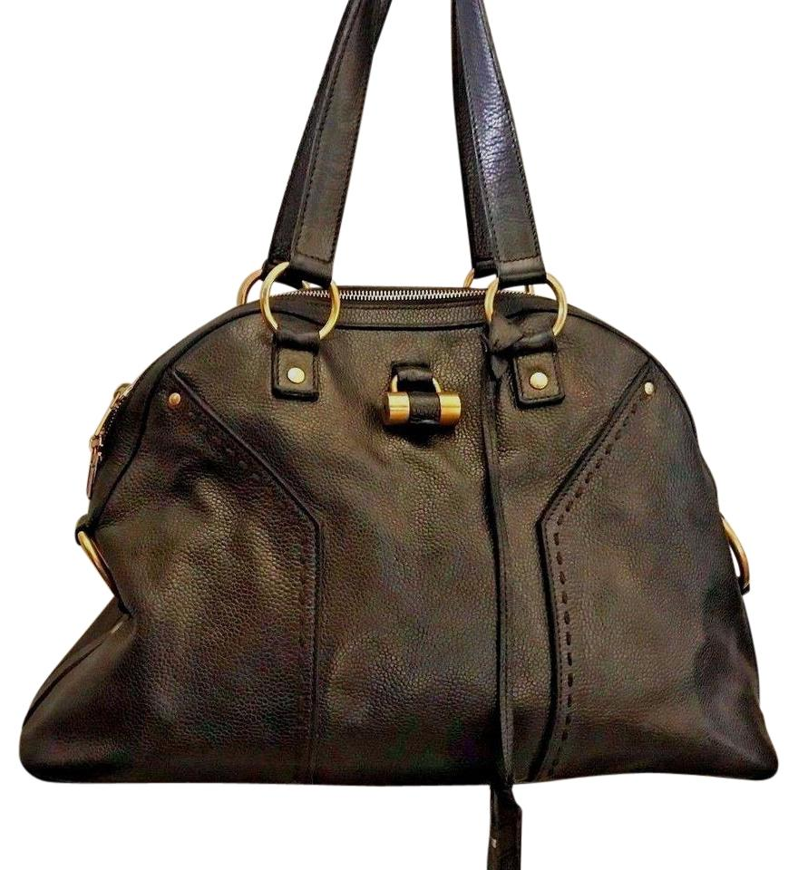 4a2bfed42389c Saint Laurent Muse Ysl Classic Large Dark Olive Green with A Touch Of  Metallic Sheen Leather Shoulder Bag