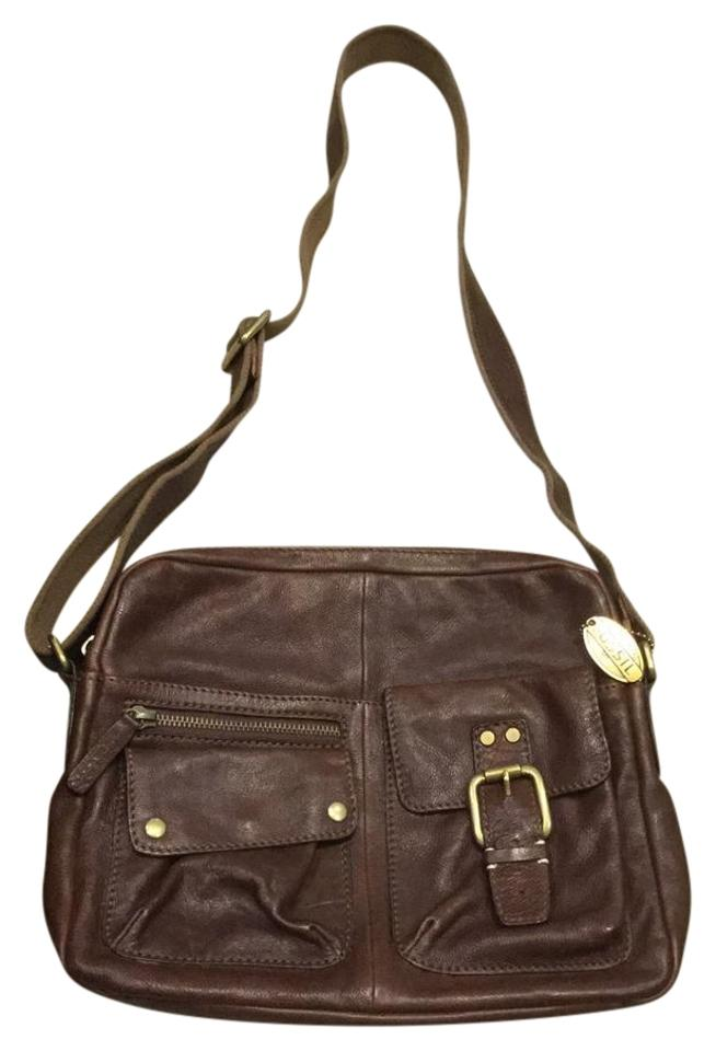 Fossil Brown With Bronze Hardware Messenger Bag