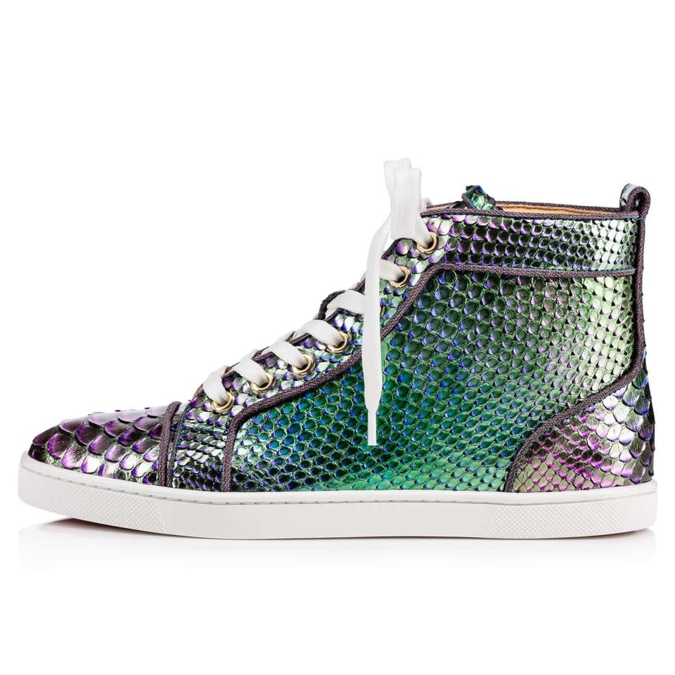 1e89a71d41d Christian Louboutin Green Bip Bip Orlato Flat Python Lace Hightop Sneakers  Size EU 41 (Approx. US 11) Regular (M, B) 59% off retail