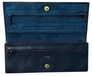 Asprey Jewelry Travel Leather Navy blue Clutch