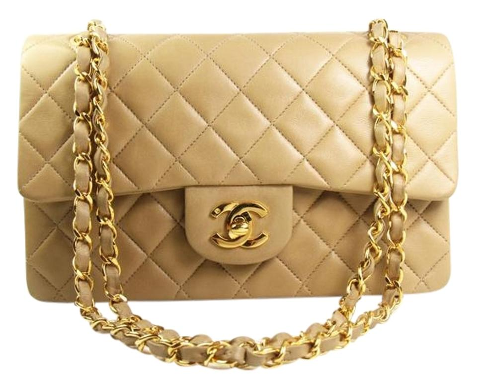 16571a4347b5a9 Chanel 2.55 Reissue Double Flap Vintage Small Classic Quilted In Beige  Lambskin Shoulder Bag