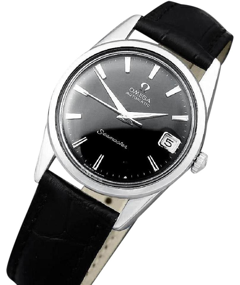 ef43a113070ce Omega Gloss Black 1962 Seamaster Mens Vintage with 562 Movement ...