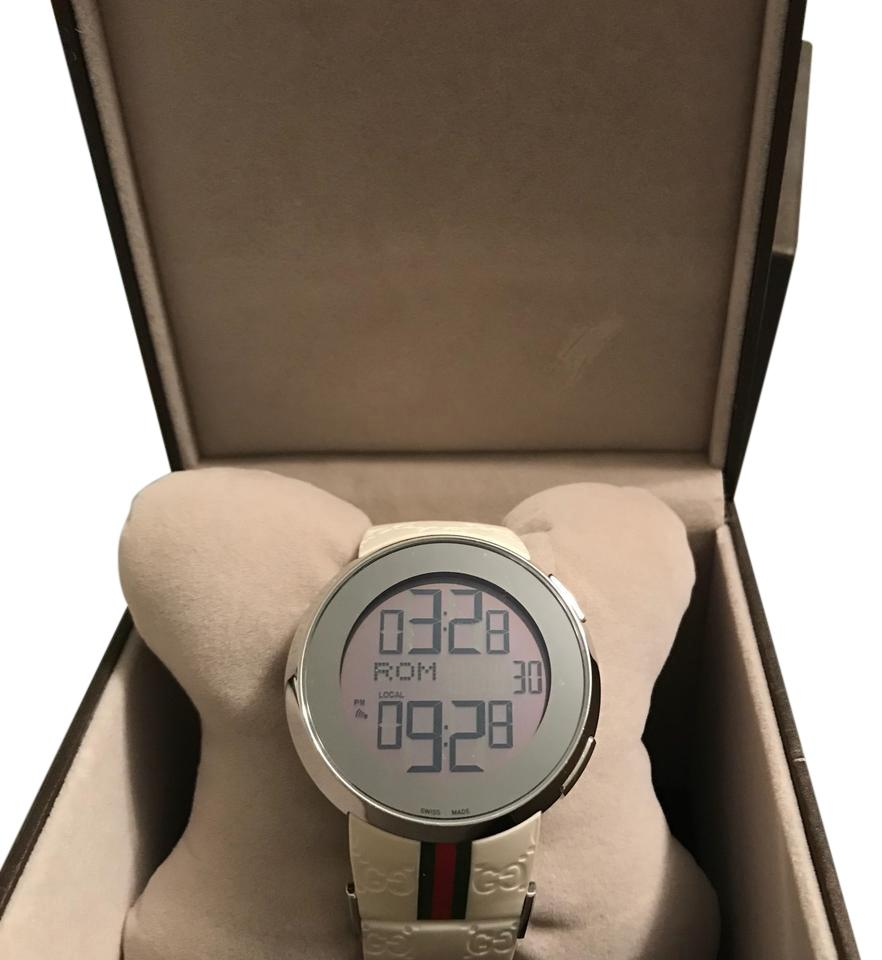 White I- Digital Watch