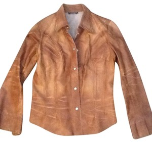 Scoop NYC Vintage Forsale Brown Leather Jacket