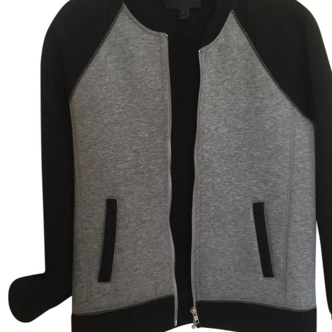Item - Black and Grey Color Bomber Jacket Size 0 (XS)