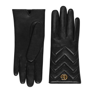 Gucci Brand New Gucci GG Marmont Chevron Leather Gloves Size 7