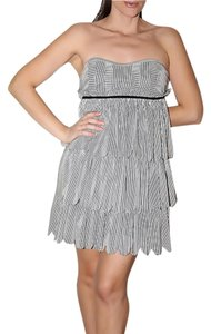 Marc by Marc Jacobs Tiered Silk Stripe Mini Dress