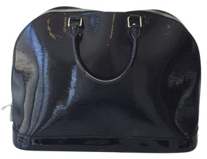 Louis Vuitton Alma Epi Leather Epi Electric Satchel in Black