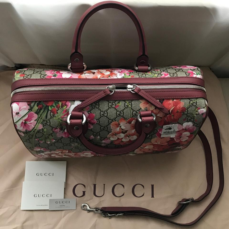 bbfff370778b Gucci Blooms Gg Supreme Top Handle Medium Brown Canvas Shoulder Bag -  Tradesy