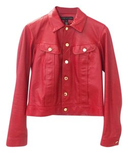 Ralph Lauren Collection Fall Designer Leather Motorcyclejacket Red Jacket