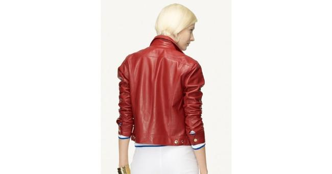 Ralph Lauren Collection Fall Designer Leather Motorcyclejacket Red Jacket Image 3