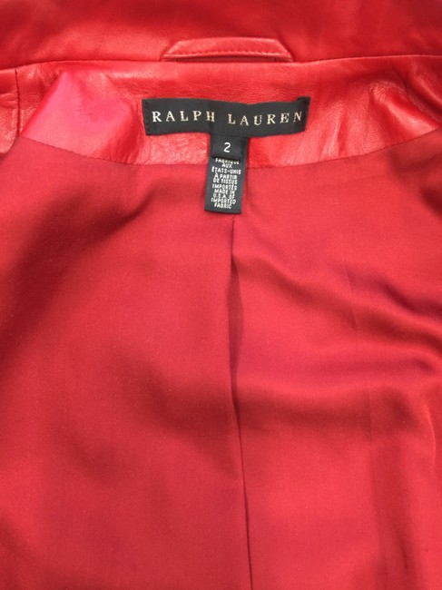 Ralph Lauren Collection Fall Designer Leather Motorcyclejacket Red Jacket Image 7